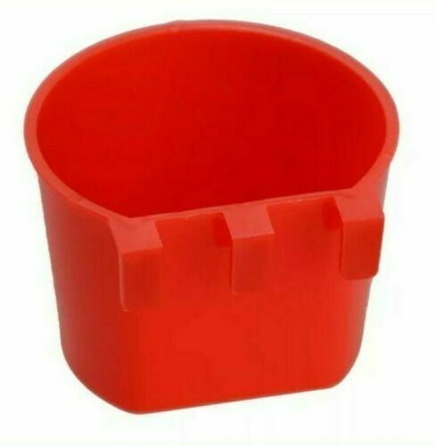 12 Pack Hanging Feed & Water Cage Cups Chickens Poultry 1/2 Pint / 8 fl. oz.