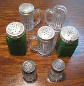 Vintage Depression Glass Salt and Pepper Shakers