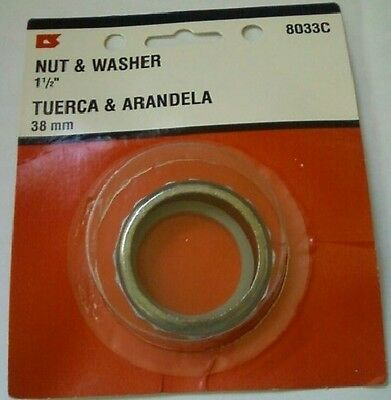 Slip Joint Nut Set ( P-Trap Metal Slip Joint Nut and Washer 3 sets 1 1/2