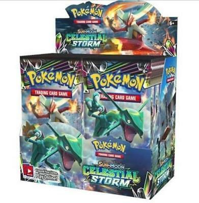 Купить Pokemon Celestial Storm Sun & Moon Factory Sealed Booster Box 36 packs