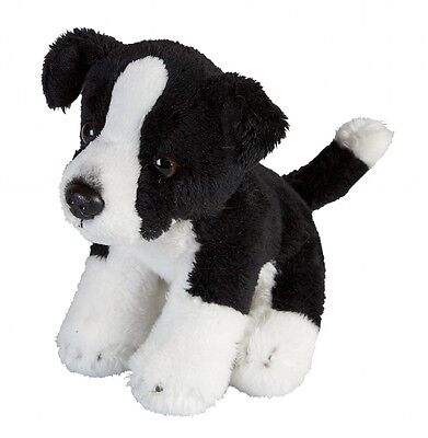 Ravensden Border Collie Sheep Dog Small Plush Soft Toy Black White 15cm FRS007SD