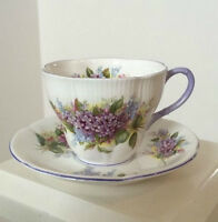 """Royal Albert """"Lilac from the Blossom Time"""" Cup & Saucer"""