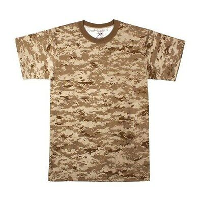 Mens Digital Camouflage T-Shirt, Desert Digital Camo by Rothco S TO 4X