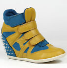 High (3 in. and Up) Blue Fashion Sneakers Athletic Shoes for Women