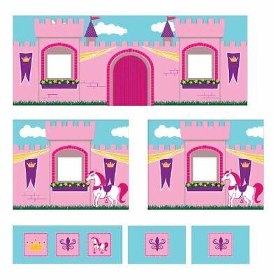 Princess Castle Design Curtain Set for Junior Loft Bed Kids Furniture Removable
