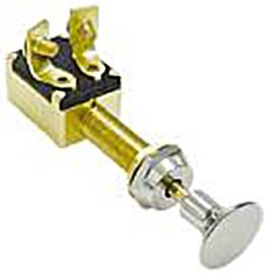 Push Pull Switch Brass Chromed Handle 12V 20A Off/On/On