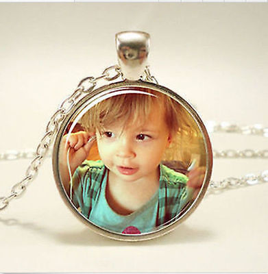 Personalized Photo Pendants Custom Necklace Loved One Gift For Family Member Gif