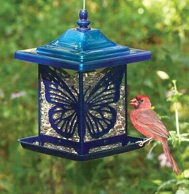 Bird Feeder The Monarch Electric Blue Made in USA Heavy Duty Rust Resistant 4462