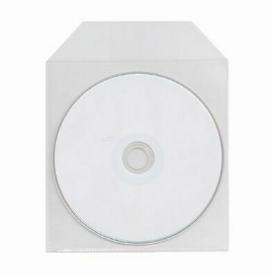 1000 Cpp Thin Cd Dvd Clear Plastic Sleeve With Flap 65 Micron