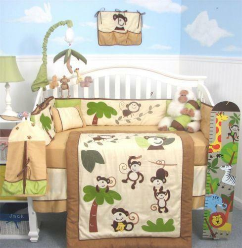 monkey crib bedding ebay 87340