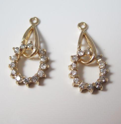 Yellow Gold Diamond Earring Jackets