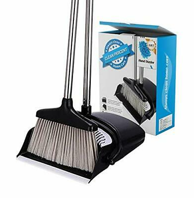 Broom and Dustpan Set with Hand Duster