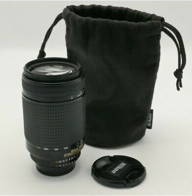 Nikon Nikkor 70-300 telephoto lens AF zoom 1.4-5.6 G with case and hood mint