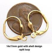 Gold Earring Findings
