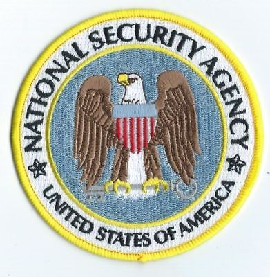 """NATIONAL SECURITY AGENCY - 4""""  PATCH  - DEPT OF DEFENSE DoD N.S.A. NSA"""