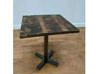 New Bespoke Hand Crafted Rustic Wooden Dining Table 700mm Square Bistro Pub Bar