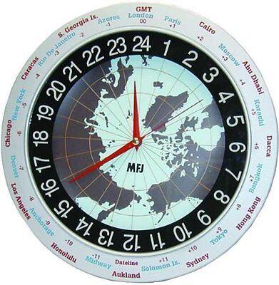 Mfj 115 Clock  12 24 Hour  Analog  12In   Authorized Dealer