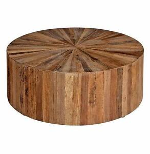 Charming Round Wood Coffee Table