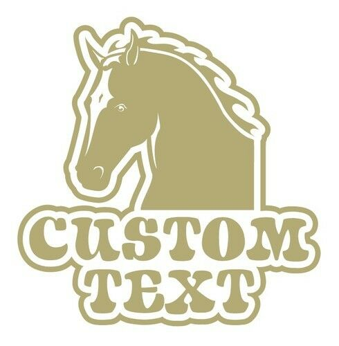 """Horse """"Your Name"""" Truck Trailer Farm Rodeo Decal"""