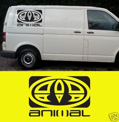 2x LARGE Animal Sticker Decals Surf Camper Day Van VW L200 T5 T4 580mm x 380mm for sale  Sheffield