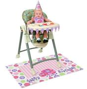 1st Birthday Party Supplies Girl