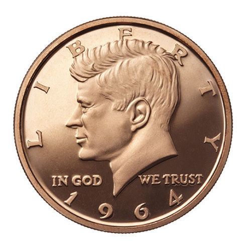 1 oz Copper Round - 1964 Kennedy