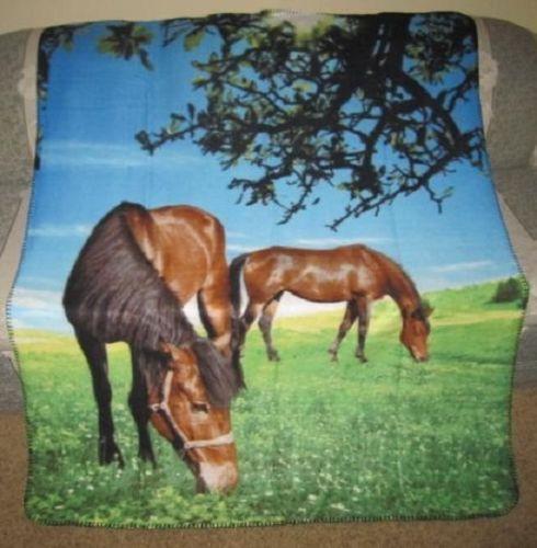 Horse Fleece Throw Blanket Ebay