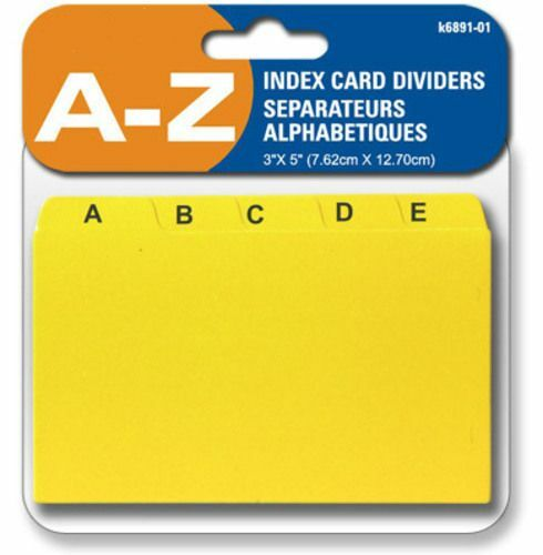 "INDEX CARD DIVIDERS A - Z, 3 X 5"" , SEPERATE CARDS FOR EACH ALPHABET"