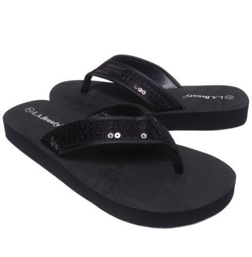 d671e000d986 Sequin Flip Flops