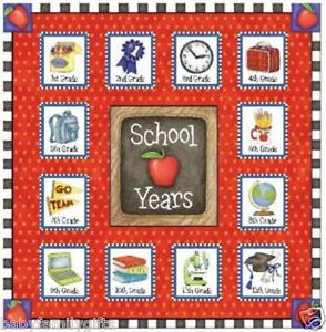 School Years Memory Scrap Book Album Apple 24POM 2011