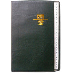 Personal Phone and Address Book - Black Leather Like Binder - Size 5