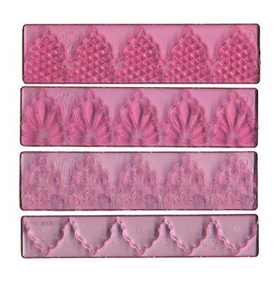FMM Cutter Textured Lace Set 1 Cake Cutting Tool Drops Detail Simple Art Nouveau