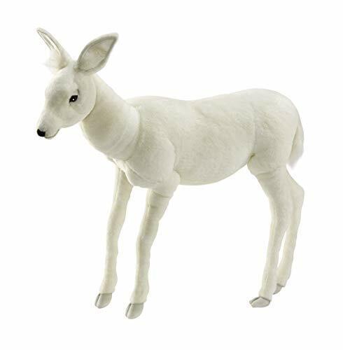 HANSA True-to-Life Baby Reindeer in White