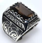 Mens Silver Ring Size U