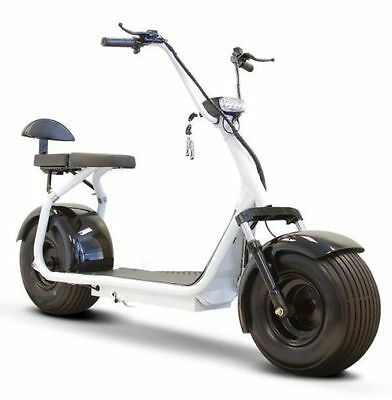 E-Wheels Fat Tire Electric Scooter EW-08 - 20 mph with 23 mile range - White