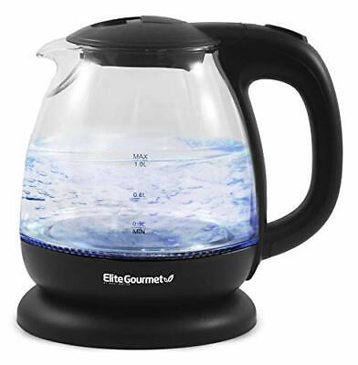 Cordless Electric Glass Kettle LED Auto Shut-Off Quick Boil Water Kitchen Tools