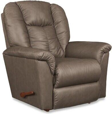 La-Z-Boy Brown Leather Rocker Recliner Chair Arm Chairs Fawn Lazyboy Recliners