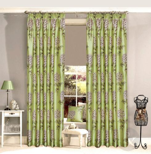 Green And Brown Curtains: Green Brown Cream Curtains