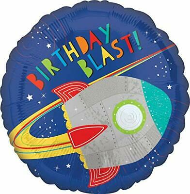 Mayflower Products Blast Off Space Alien 1st Birthday Party Supplies Balloon