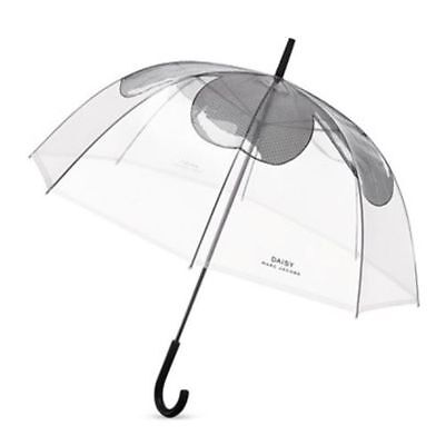 MARC JACOBS PARFUMS DAISY CLEAR dome shaped FLOWER floral large jumbo UMBRELLA