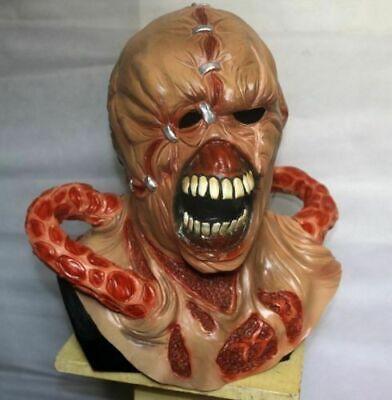 Non Evil Halloween Costumes (MASCHERA RESIDENT EVIL 3 Nemesis mask LATTICE Deluxe COSTUME COSPLAY)