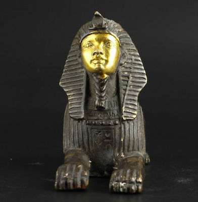 Shang Zhou dynasty excellent bronze Egyptian Pyramids Sphinx statue