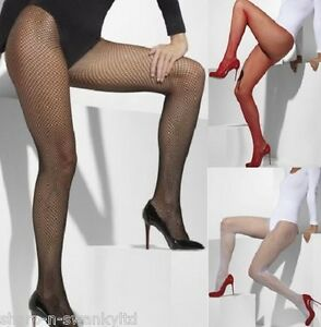 Ladies-Sexy-Black-White-or-Red-Fishnet-Tights-Fever-Fancy-Dress-Range