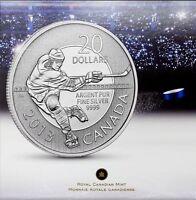 Pièce de 20 $ en argent pur / silver Hockey (2013)