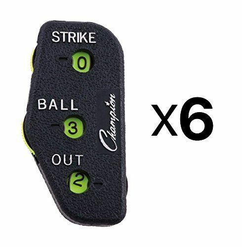 Champion Sports 3 Wheel Standard Optic Yellow Umpire Indicator, Six (6) Pack