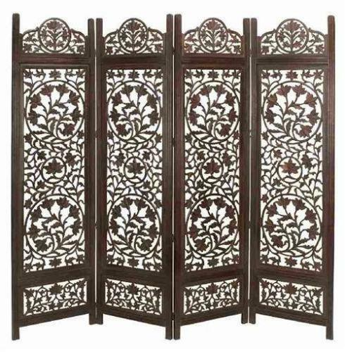 Carved Wooden Screens ~ Carved wood screen ebay