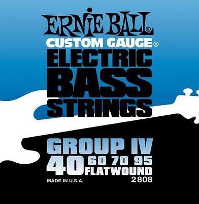 Ernie Ball 2808 Flatwound Cordes guitares basses 40 - 95 plat plaie