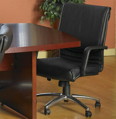 Conference Room Chairs Mid Back Chrome Base Swivel Seat Height Adjustable New
