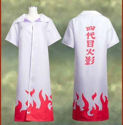 Naruto Costume 4th Gen Leaf Hokage Naruto Minato Cosplay Robe Cloak NEW - Minato Hokage Kostüm