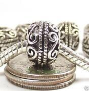 European Silver Spacer Beads